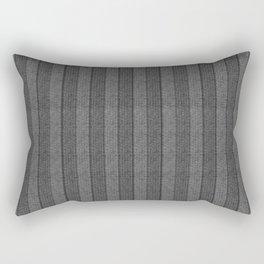 """""""Grey Vertical Lines Wool Texture"""" Rectangular Pillow"""