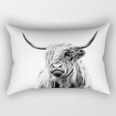 portrait of a highland cow Rectangular Pillow