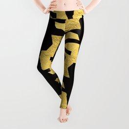 -BEQUEEN IN GOLD Leggings