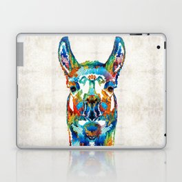 Colorful Llama Art - The Prince - By Sharon Cummings Laptop & iPad Skin