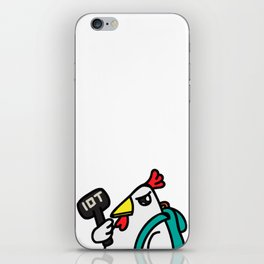 tyler duck with hammer iPhone Skin