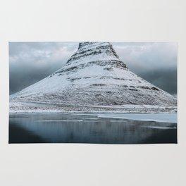 Kirkjufell Mountain in Iceland - Landscape Photography Rug