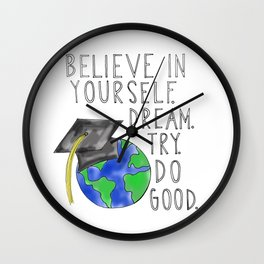Believe in Yourself - Boy Meets World Graduation Wall Clock