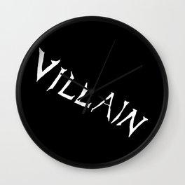 Villain in Black Wall Clock