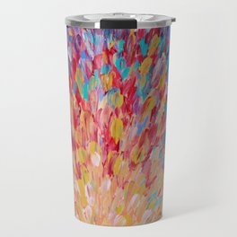 SPLASH - WOW Dash of Cheerful Color, Bold Water Waves Theme, Nature Lovers Modern Abstract Decor Travel Mug