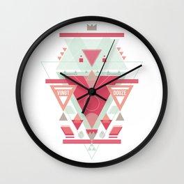 Triangular Abyssal, pink edition Wall Clock