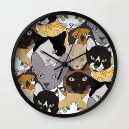 Cat takeover Wall Clock