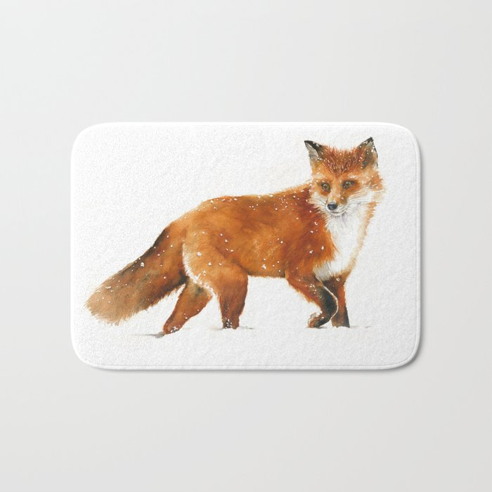 Red Fox Walking Bath Mat