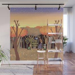 Over the Garden Pixel Wall Mural