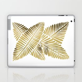 Tropical Banana Leaves – Gold Palette Laptop & iPad Skin