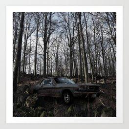 Car in the Woods Art Print