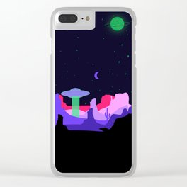 Hello ufo Clear iPhone Case