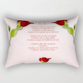 I Believe Rectangular Pillow