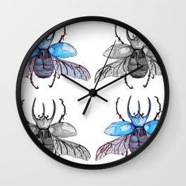 Rhino beetle Wall Clock
