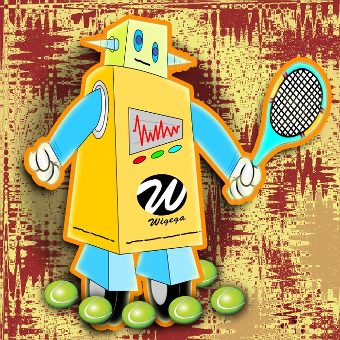 Tennis Robot with Racquet Comforters