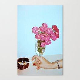 Smokin' Flowers Canvas Print