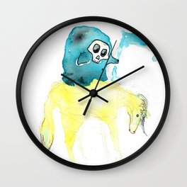 Lil Deathster the Ankle Scyther and Pasty the Pallid Pony Wall Clock