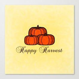 Happy Harvest Canvas Print