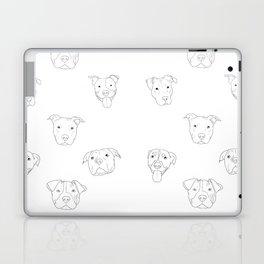 White pit bull love Laptop & iPad Skin