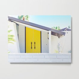 Yellow Door, Palm Springs Metal Print