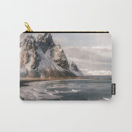 Stokksnes Icelandic Mountain Beach Sunset - Landscape Photography Carry-All Pouch