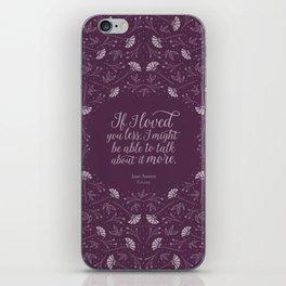 Purple Floral Love Quote  Emma Jane Austen iPhone Skin