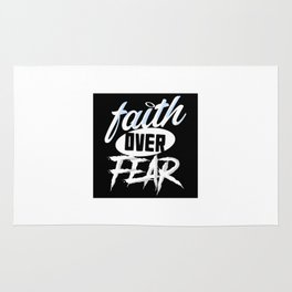 Faith over Fear Rug