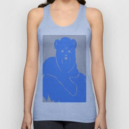 Polar Bear Screen print - Wild Veda Unisex Tank Top
