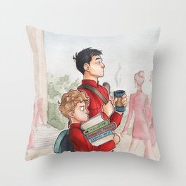 Sulu and Chekov - Starfleet Academy Throw Pillow