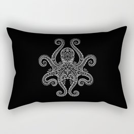 Intricate Dark Octopus Rectangular Pillow