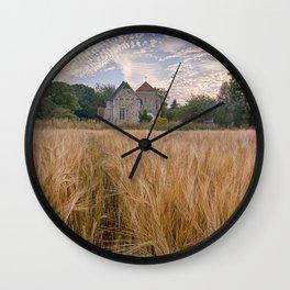 Wheatfields To The Church Wall Clock