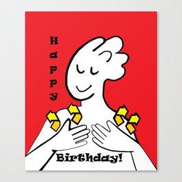 ASL Happy Birthday! Canvas Print