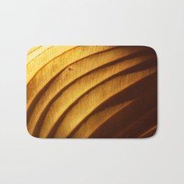 Golden Leaf Light Abstract Bath Mat
