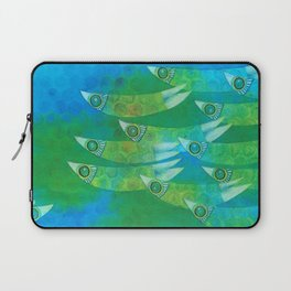 Green dotted ffish Laptop Sleeve