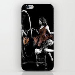 Through The Looking Glass Brown iPhone Skin