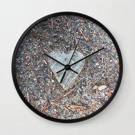 Wild Rock Heart Wall Clock