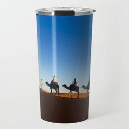 Camel ride in the Sahara Travel Mug