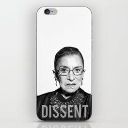 Ruth Bader Ginsburg DISSENT Collar RBG iPhone Skin