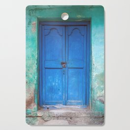 Blue Indian Door Cutting Board