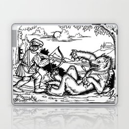 Werewolf Hunting medieval style Laptop & iPad Skin