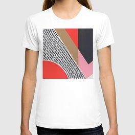 Pink Gold Red Abstract T-shirt