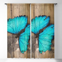 Weathered wings Blackout Curtain