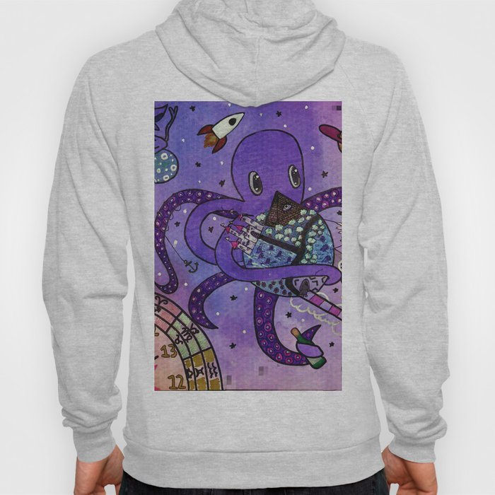 Octopus in Space- Oswald's takeover Hoody