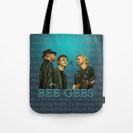 Bee Gee's Poster Tote Bag