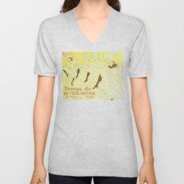 """Henri de Toulouse-Lautrec """"Troupe Mademoiselle Eglantine"""" Unisex V-Neck"""