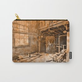 Vintage Acrylic Silk Mill Carry-All Pouch