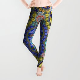 Deep Lush Mega Mandala in Gem Tones Leggings