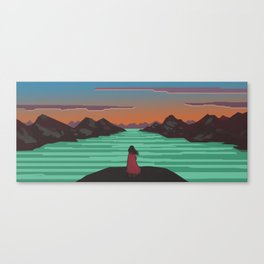 Fjords and mountains. Canvas Print