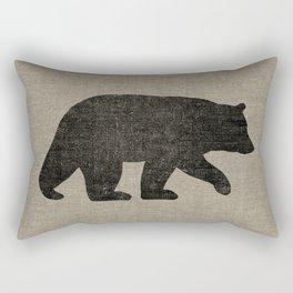 Black Bear Silhouette Rectangular Pillow
