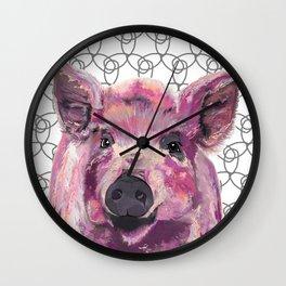 Precious Pig Wall Clock